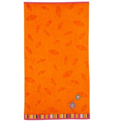 Drap de Plage TURTLE 100X180 (550g/m2) Orange